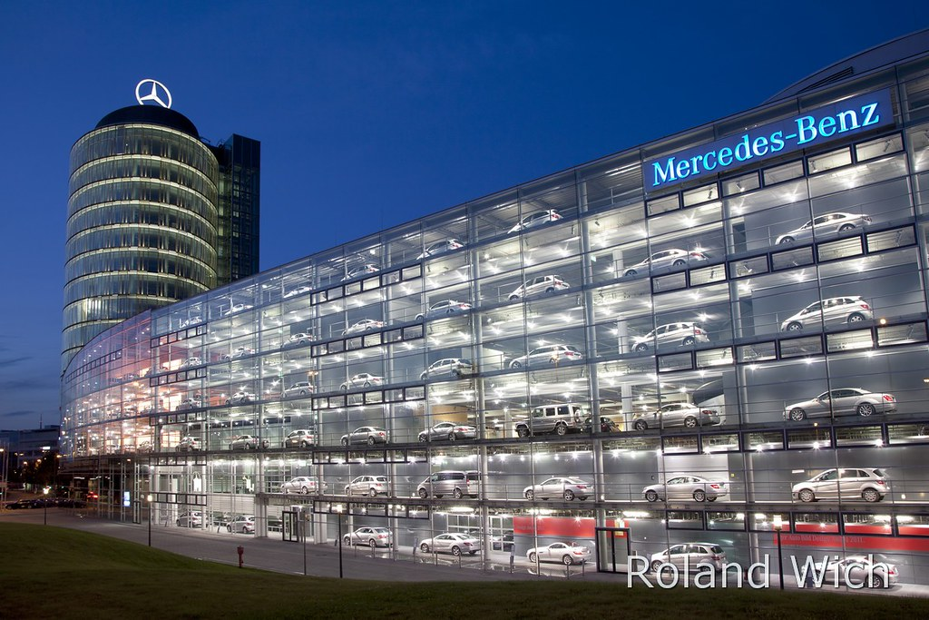 munich mercedes benz building roland wich flickr
