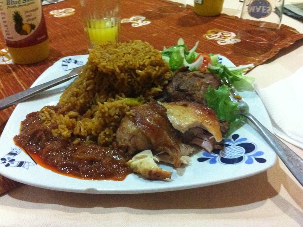 Lunch Jollof Rice And Chicken Enpediawikijoll Flickr