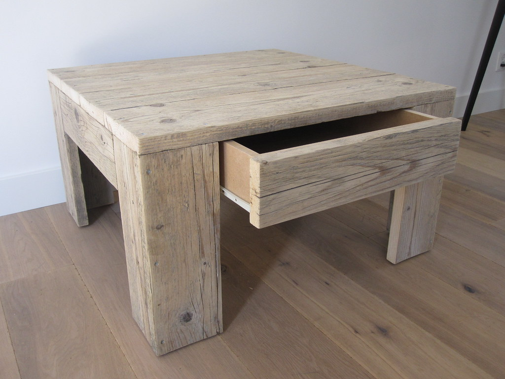Salontafel met lade steigerhout te koop bij w00tdesign flickr - Dennenbed met lade ...