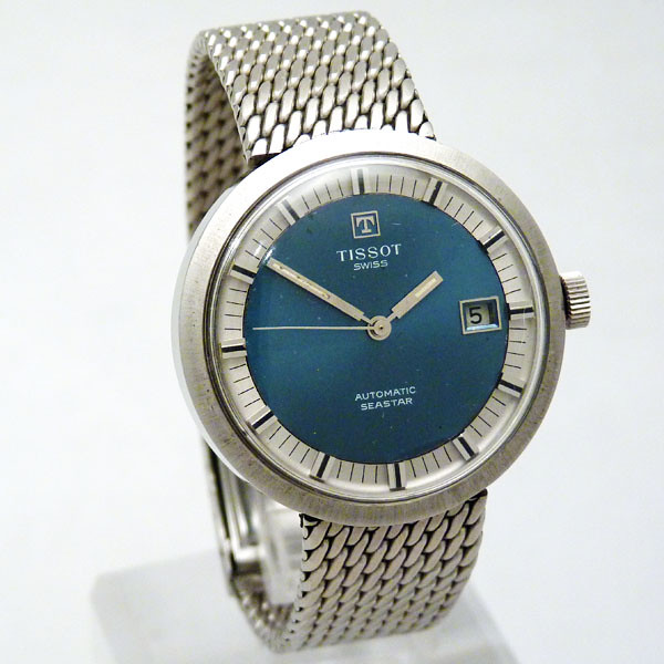 Tissot seastar blue dial 01 vintage tissot on stunning bra flickr for Celebrity tissot watches