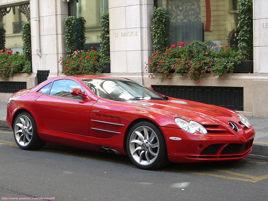 All Car Company >> Red Mercedes SLR | /!\ OLD SHOT Incredibly beautiful red Mer… | Flickr