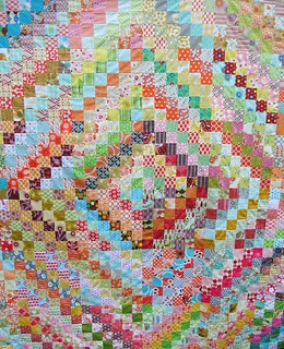 trip around the world scrappy quilt top | by Anne@surelynotanotherproject