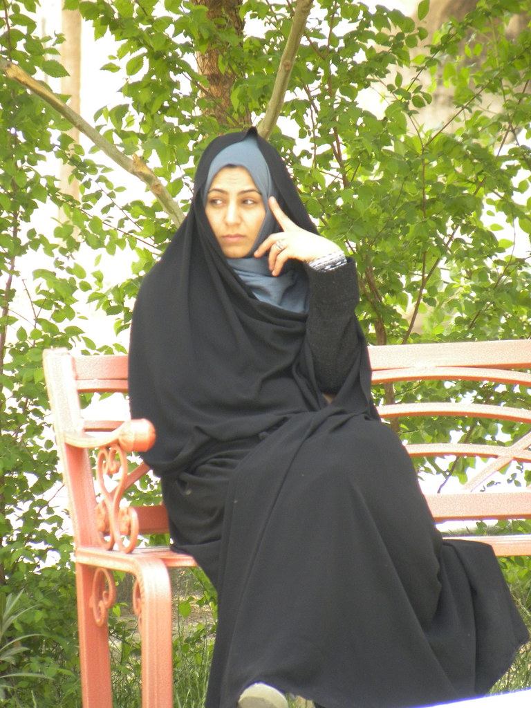 Woman Donning A Chador, Nain   The Chador Is An -9003