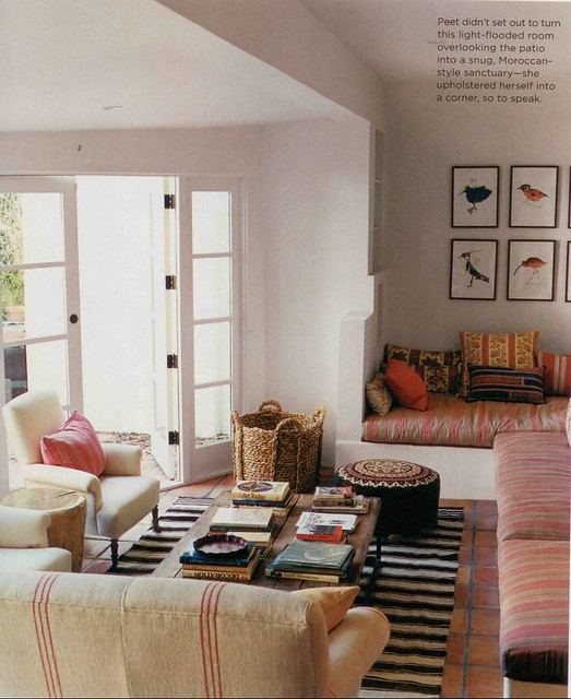 Amanda peet nathan turner estee stanley coliena for Eclectic bohemian living room