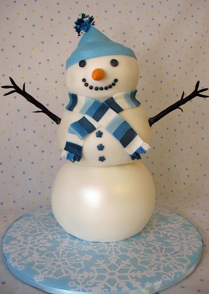 Snowman Christmas Cake Design