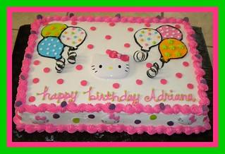 Hello Kitty Balloons Birthday Cake Tinkabellz17 Flickr