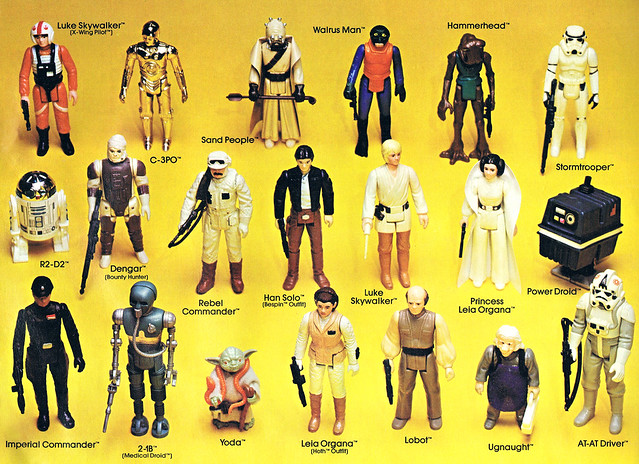 Old Star Wars Toys : Insert from vintage star wars action figure case flickr