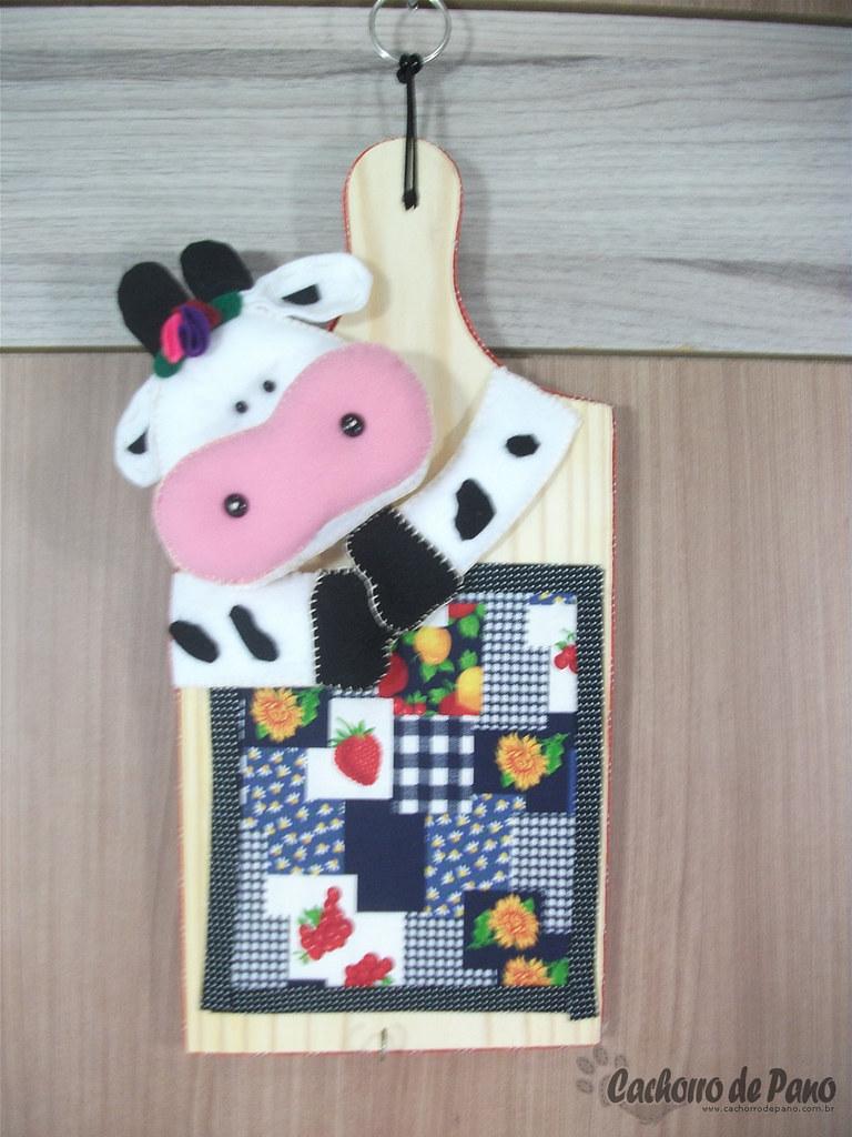 Artesanato Infantil Com Jornal ~ Vaquinha em feltro u2013 Móbiles de cozinha Móbile de cozinha u2026 Flickr