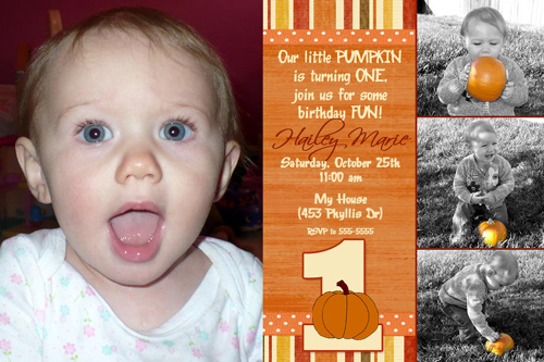 pumpkins first 1st birthday invitation halloween costume party by poshnchicprintscom