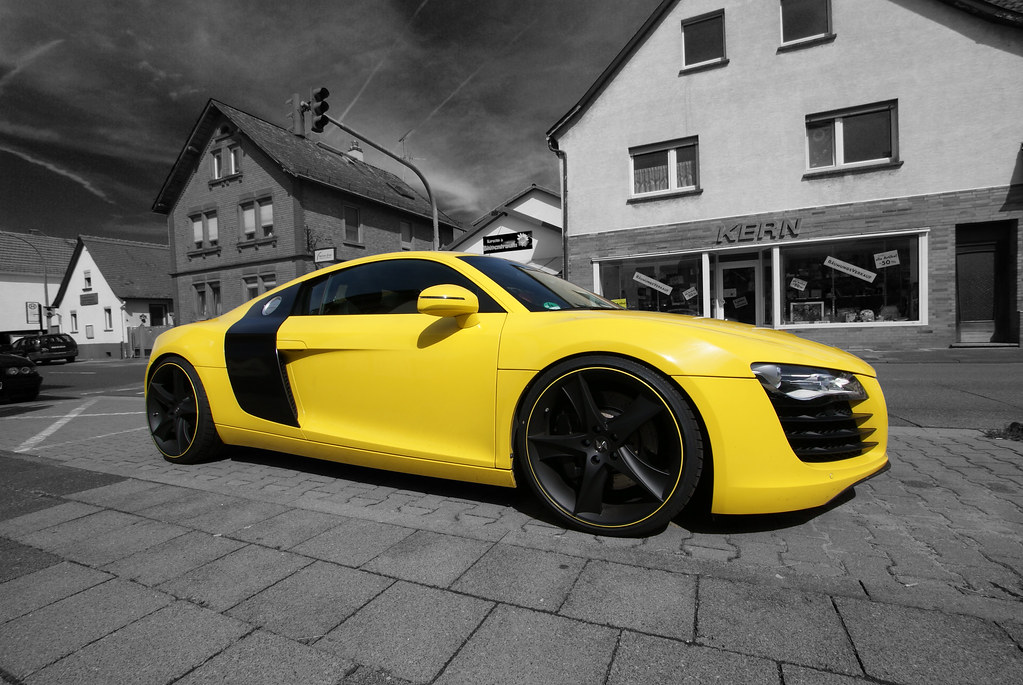 Yellow Audi R8 V8 Benzoo Flickr
