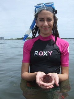 Rachel with sea urchin | by AdventureMIke.com