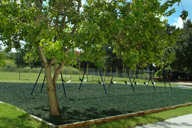 Green Rubber Mulch Swingset Safety Surface Green Rubber Mu Flickr