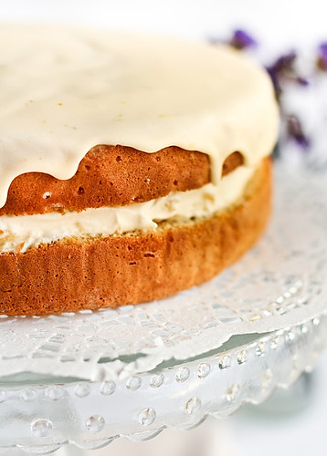 Ginger Sponge Cake with Candied Ginger Cream and a Citrus Curd Glaze ...