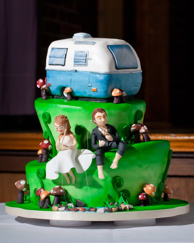 A Wedding Cake For A Couple Who
