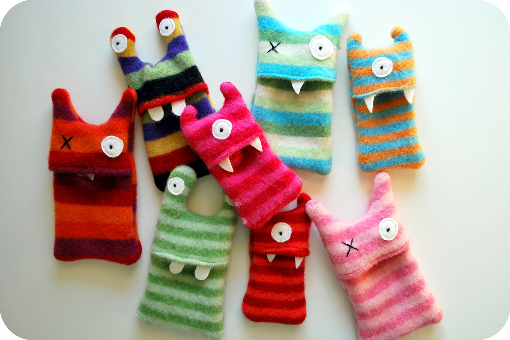 From Kids Crafternoon Sewing Monster I Pod Cozies2 Flickr