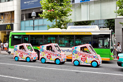 Tiny Cars in Shibuya | by tokyofashion