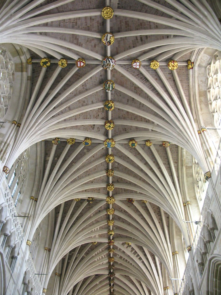 Medieval vaulted ceiling exeter cathedral caroline for Vaulted vs cathedral ceiling