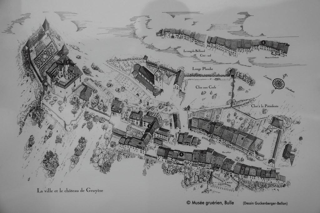 gruy res medieval village map bertrand marquet flickr