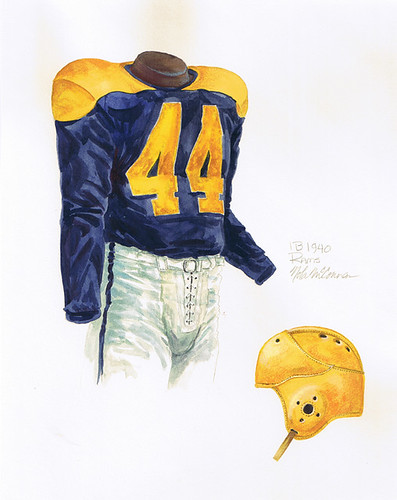 Cleveland Rams 1940 Uniform Artwork This Is A Highly