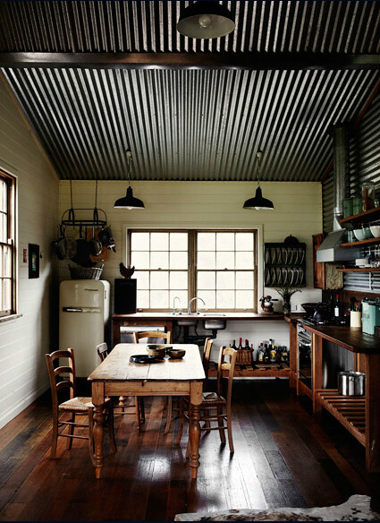 Sharyn Cairns Rustic Vintage Industrial Modern Kitchen