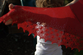 epic red shawl 2 | by knitfaced