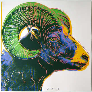 Andy Warhol Ram Color Screenprint From Endangered Species | by JKLFA