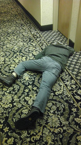 Mr Drunk Guy At Hampton Inn He Was Passed Out At My
