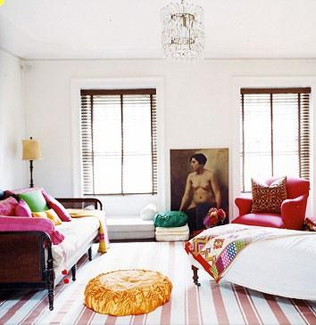 Alayne patrick melanie acevedo domino eclectic bohemi for Eclectic bohemian living room