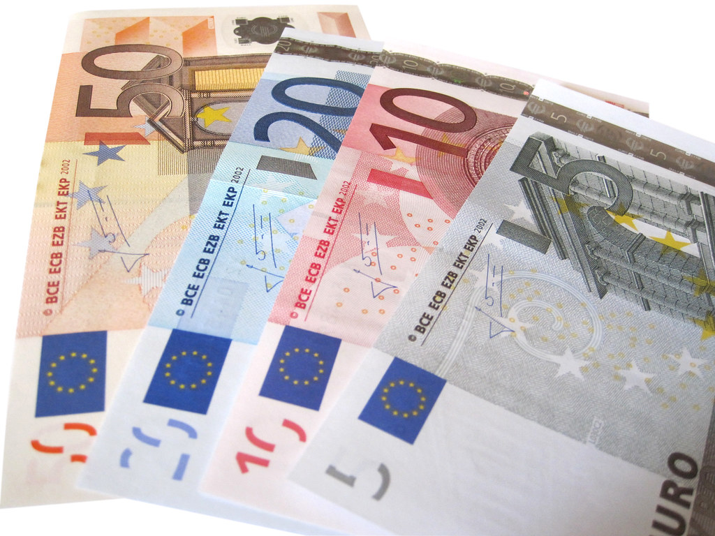 Euros Isolated On White Background An Image Of Some Euro