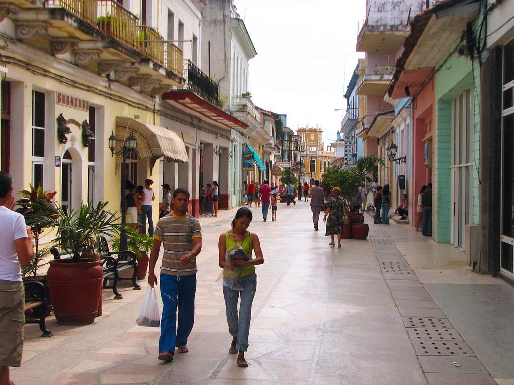 Parte Del Boulevard Ya Pavimentada Sancti Spiritus Cuba