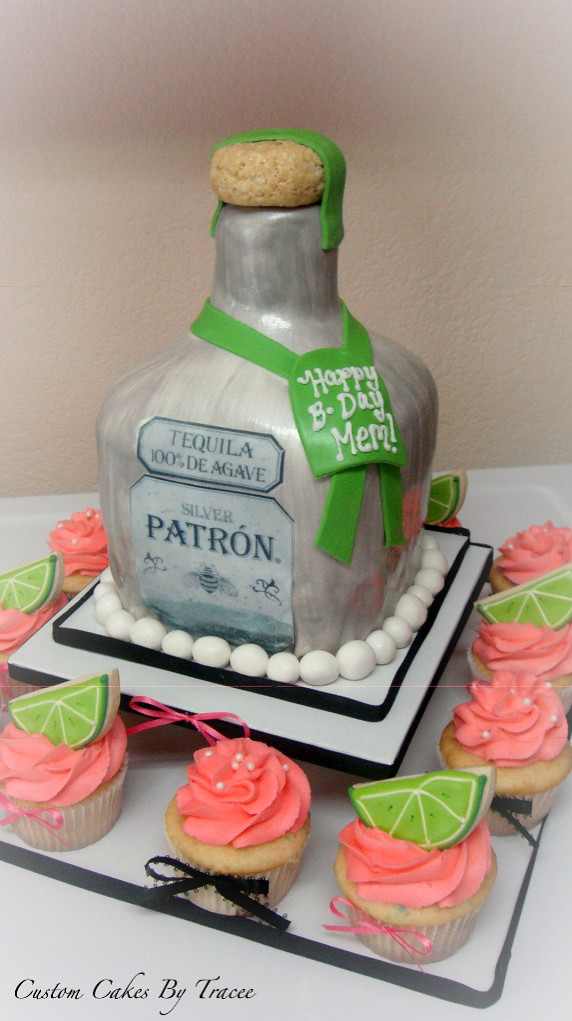 Patron Bottle Cake And Cuppies  Here Is A Patron Bottle C Flickr - Patron birthday cake