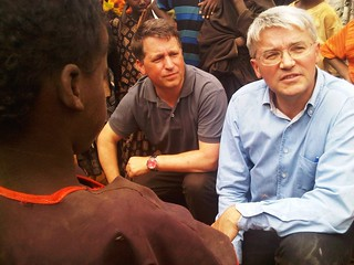 Andrew Mitchell and Justin Forsyth speak to refugees in Dadaab, Kenya | by DFID - UK Department for International Development