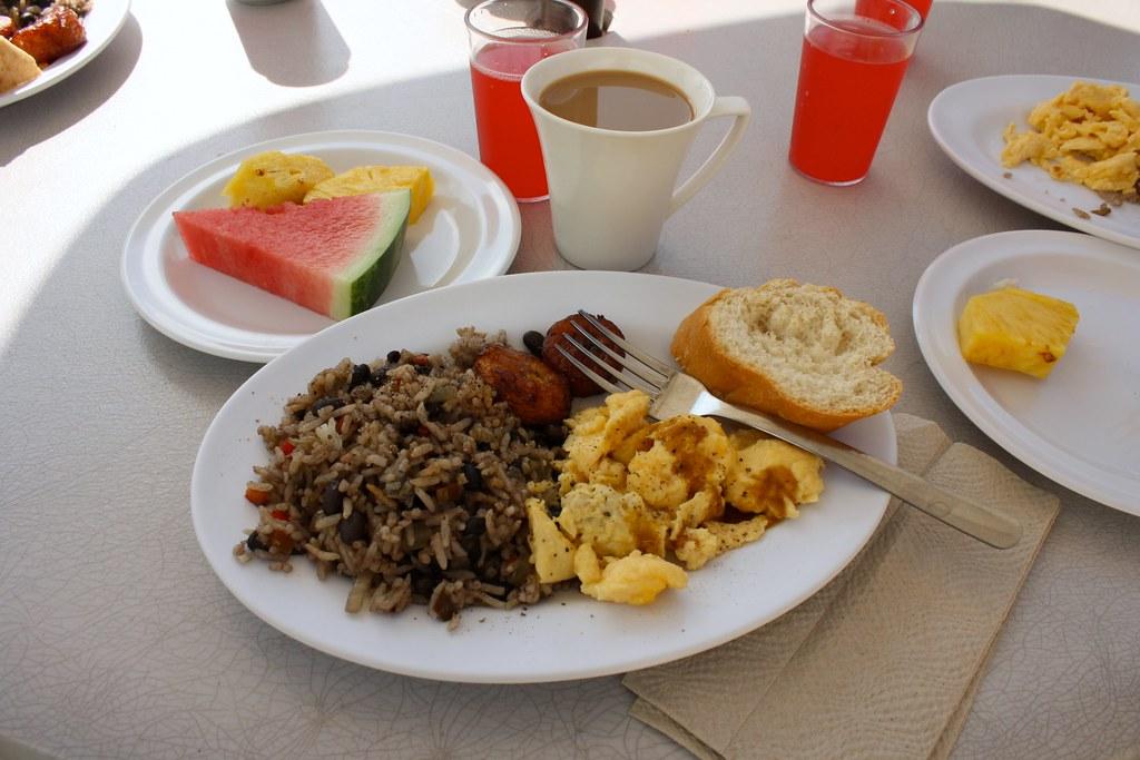 Gallo Pinto Breakfast At El Shrimp Shack Puntarenas Un