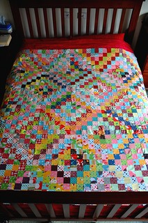 quilt top on bed | by patchandi