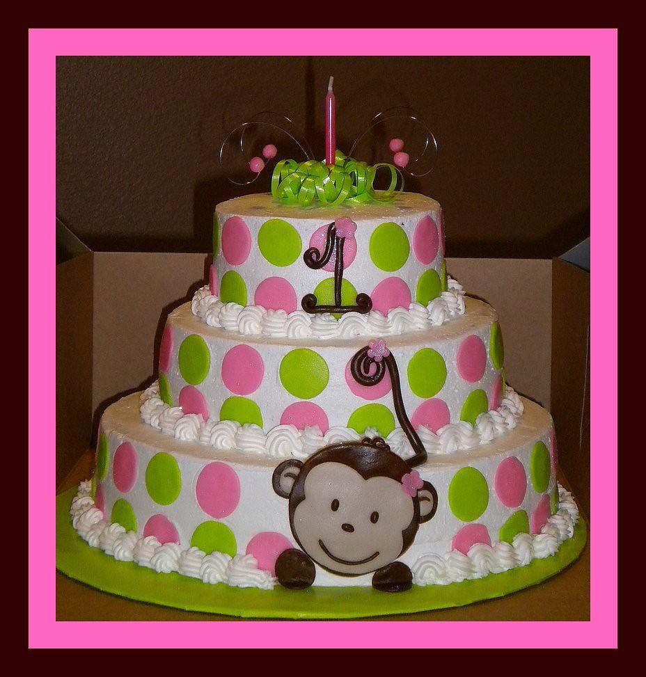 1st Birthday Girly Monkey Cake tinkabellz17 Flickr