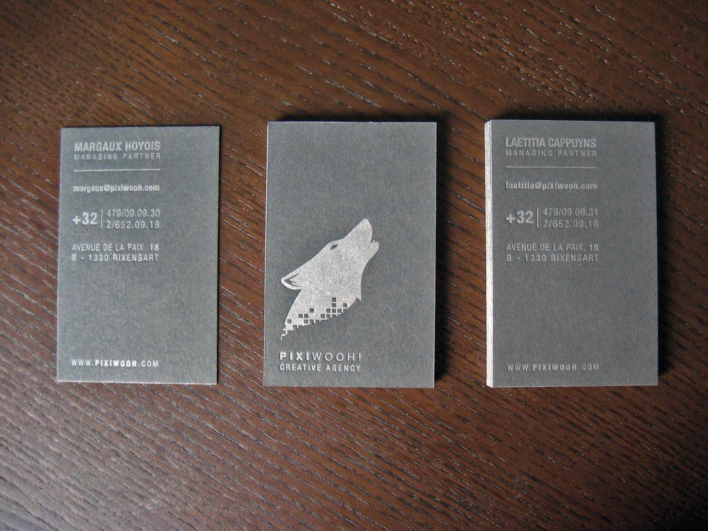 Silver Metallic Letterpress Business Cards | Client: Pixiwoo… | Flickr