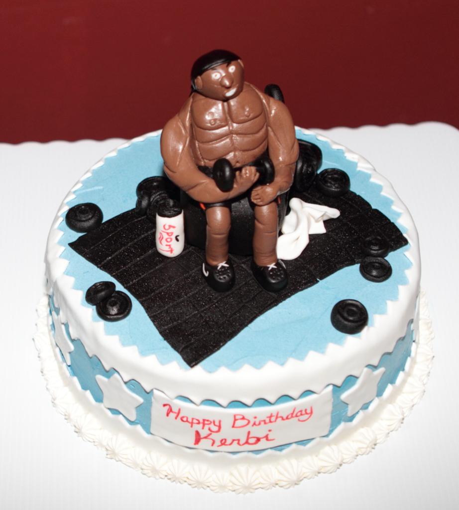 Muscle Man Cake Pan