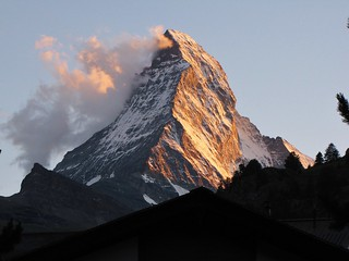 The Matterhorn at dusk from Zermatt, Switzerland | by wbirt1