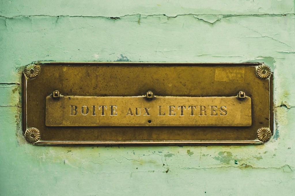 ... Marseille (France), Old Door Mailbox   By Boris Maillard