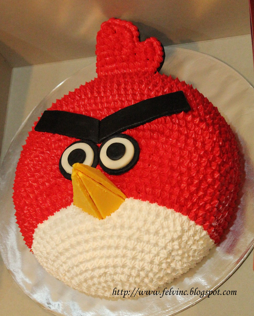 Angry bird cake felvin chan Flickr