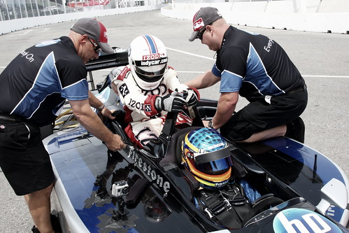Getting into the car | by IndyCar Series