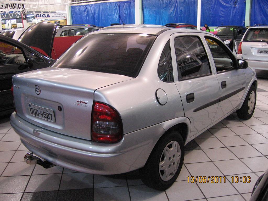 004 Gm Corsa Sedan Classic Life 1 0 Flex Basico 2007 Prata Flickr