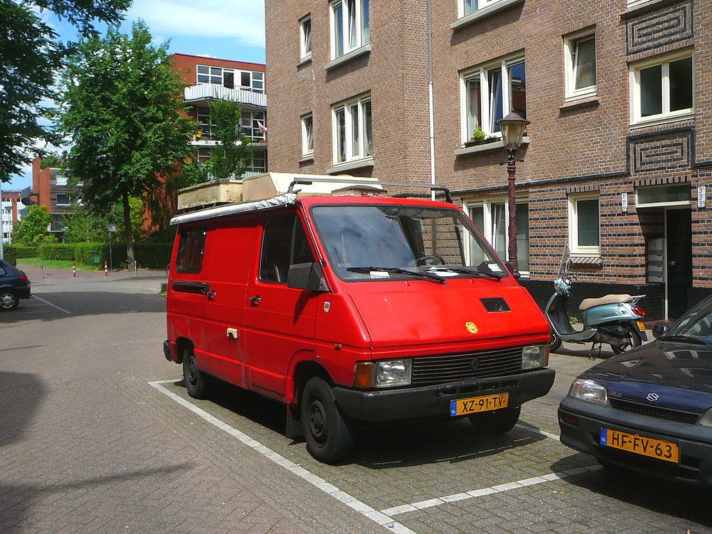 renault trafic camping car 1982 amsterdam de kempenaers flickr. Black Bedroom Furniture Sets. Home Design Ideas