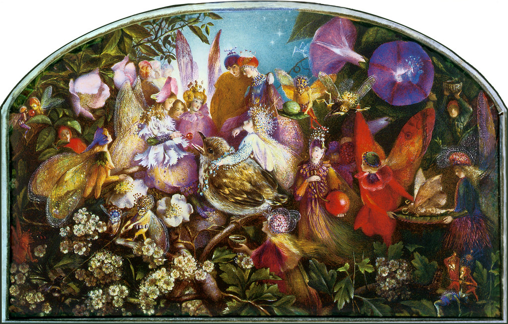 John Anster Fitzgerald 'The Fledgling' (C.19th) Watercolou ...
