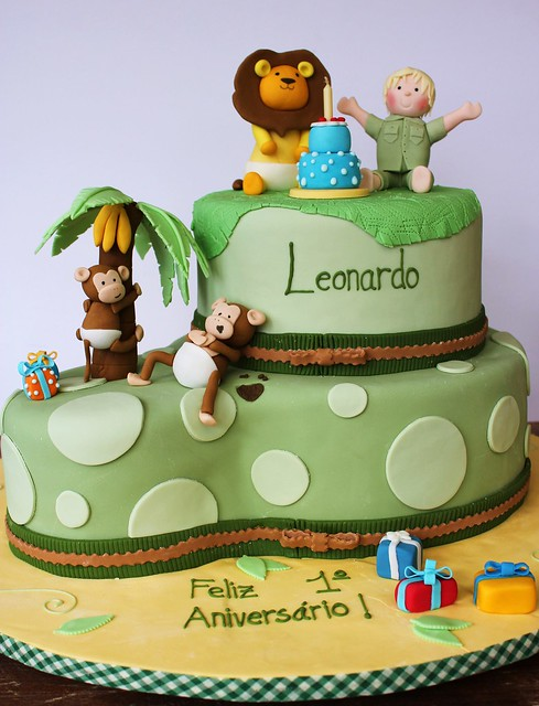 Jungle Birthday Cake Images : Safari Birthday Cake Flickr - Photo Sharing!