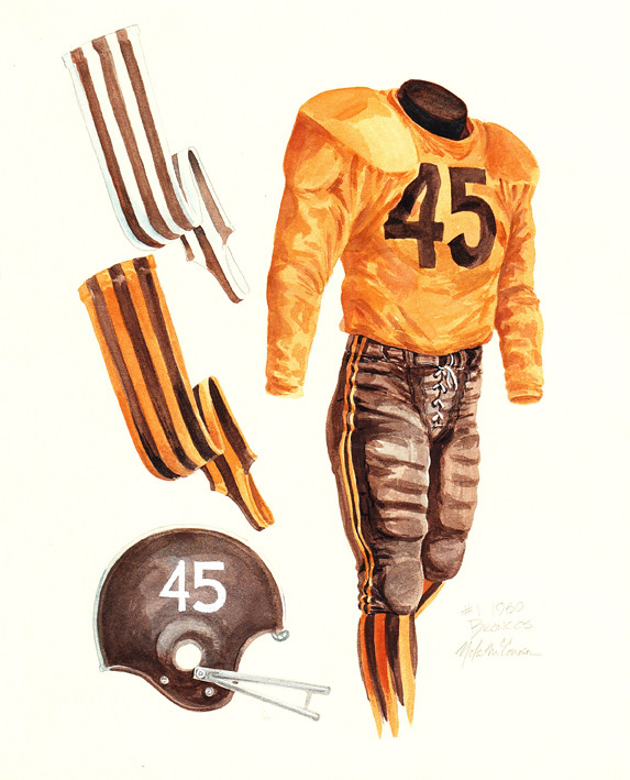 Denver Broncos 1960 Uniform Artwork This Is A Highly