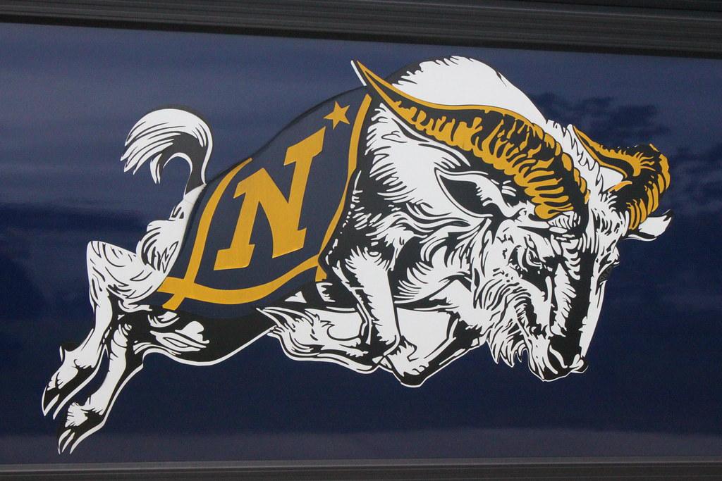 Navy Goat Mascot Clipart
