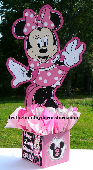 Inch large pink black white minnie mouse decorations ha