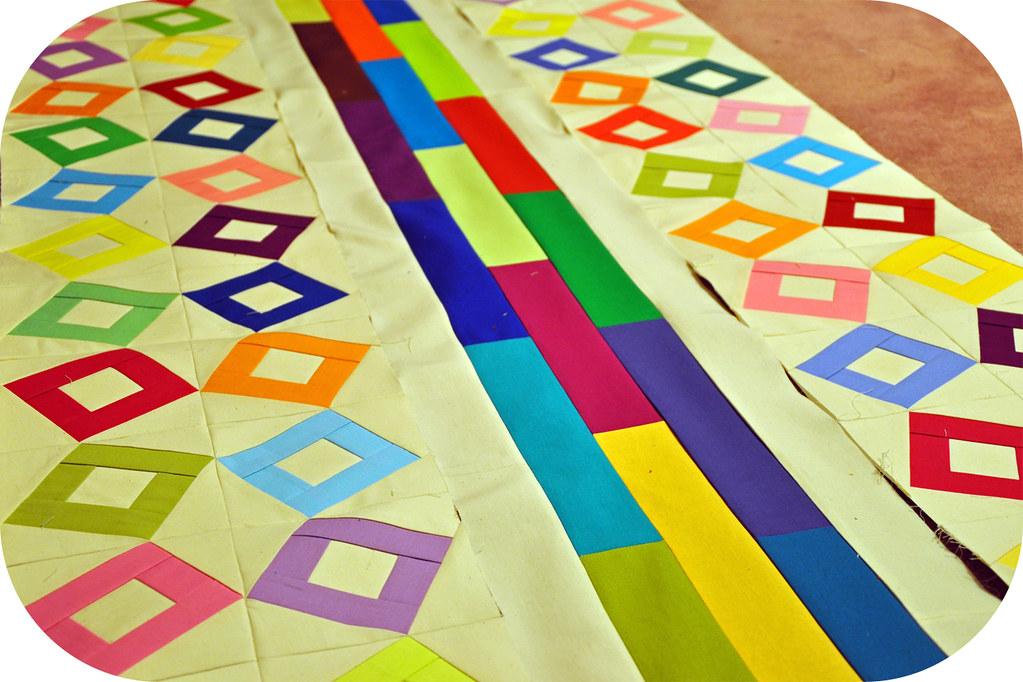Color block strip akira