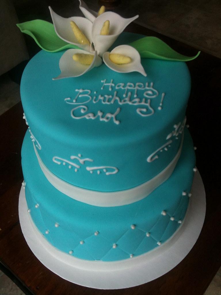 Calla Lily Birthday Cake | Blackout chocolate cake with choc ...